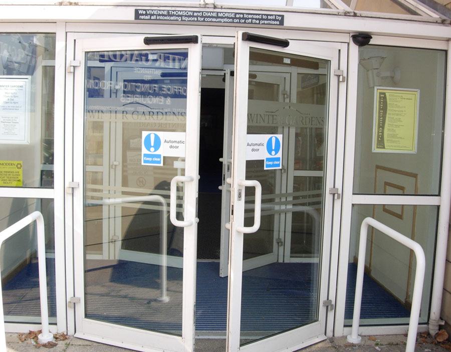 White Automatic Doors
