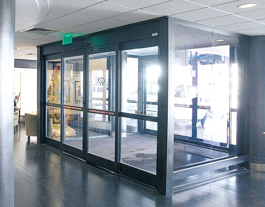 All Glass Entry with Automatic Doors