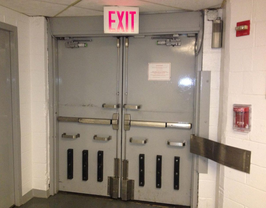 Gray Security Doors