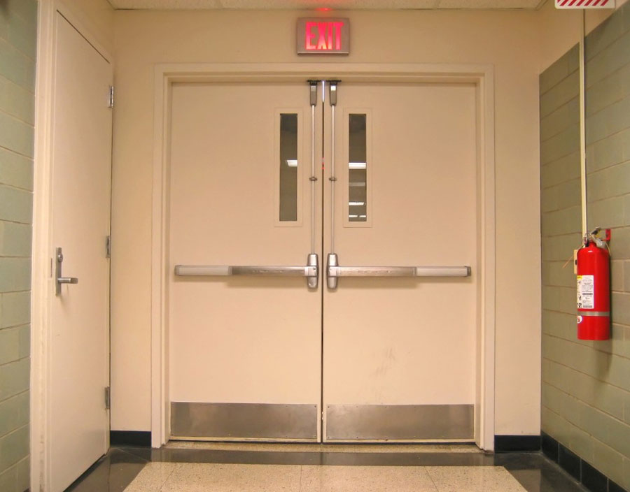 White Security Doors