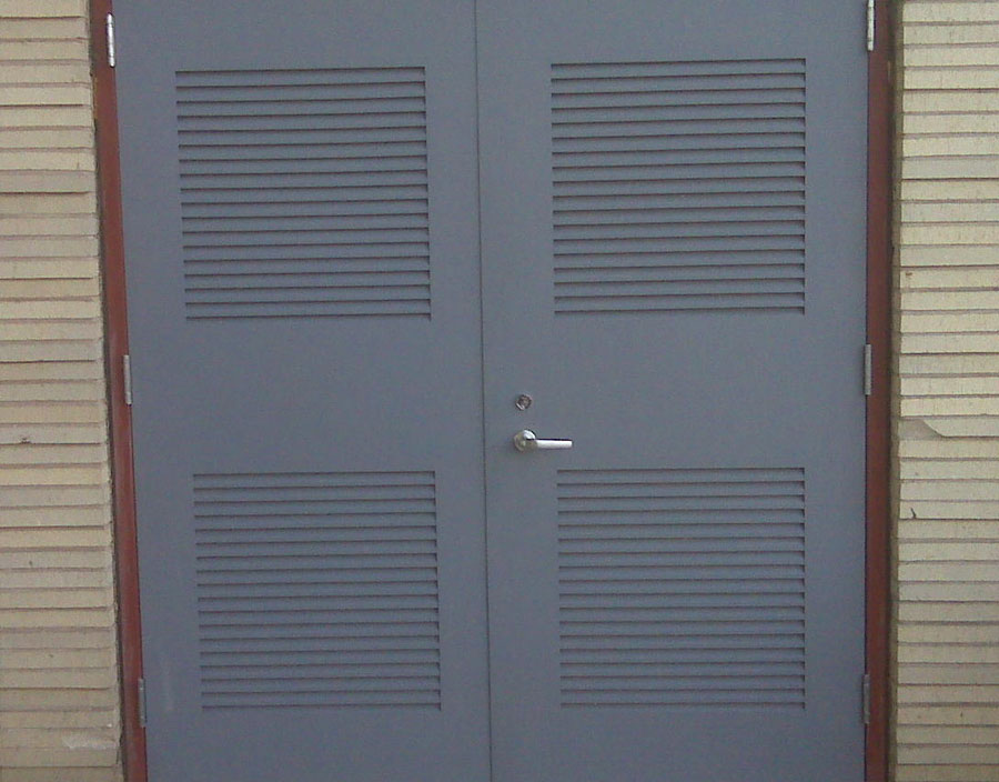 Gray Doors with Vents