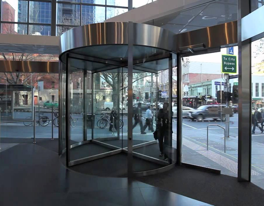 Glass revolving Entry Door