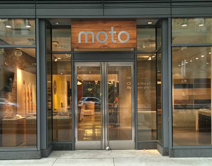 Moto commercial storefront
